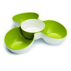 Joseph Joseph™ Tripe-Dish™ Multi-Bowl Serving Dish - White & Green