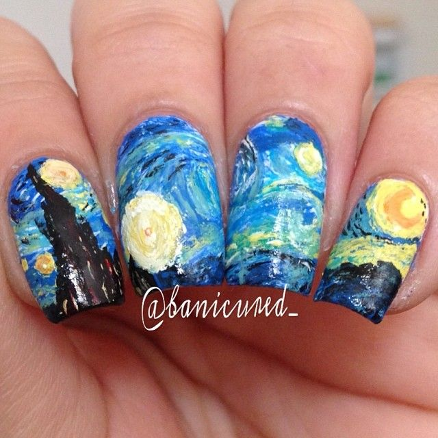 15 best Starry Night Nails images on Pinterest | Starry nights, Gel ...