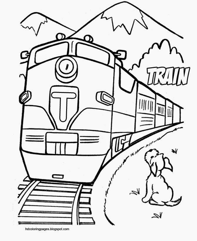Train And Dog Coloring Pages Train Coloring Pages Dog Coloring Page Coloring Pages