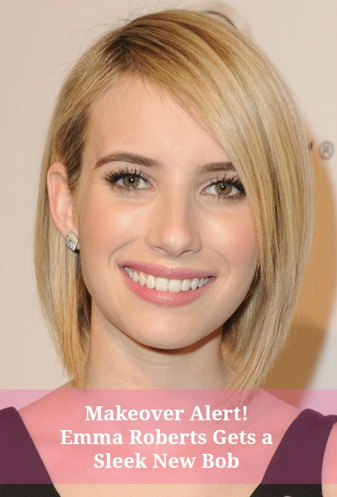 Emma Roberts Is Nailing The Tousled Bob And You Can Too Emma Roberts Bobs And Eyebrow