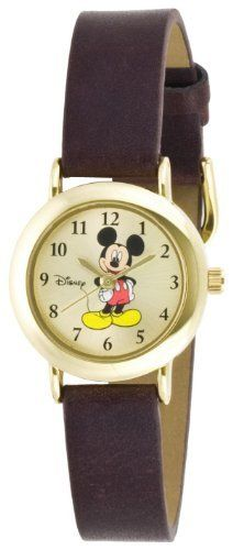 Disney Women's MCK614 Mickey Mouse Goldtone Case Brown Strap Watch Disney. $14.95. Save 40% Off!