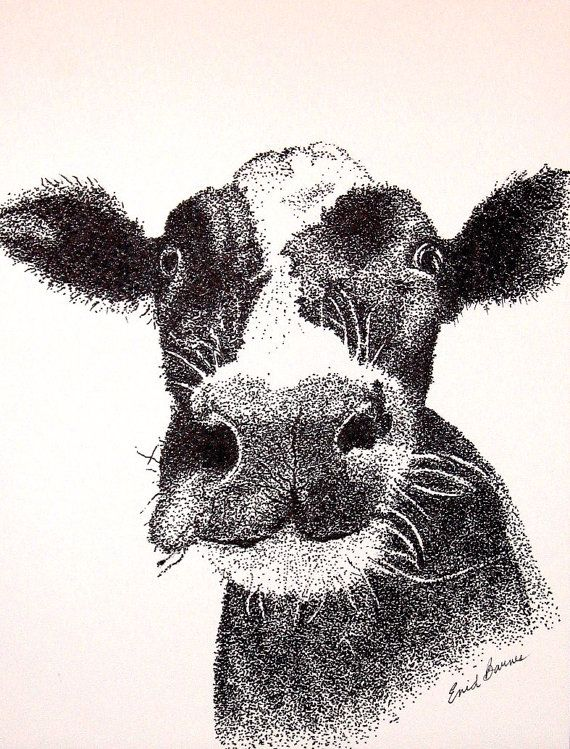 25 trending stippling art ideas on pinterest stippling pencil cow original pen and ink pointillism drawing by mydotshop on etsy ccuart Image collections