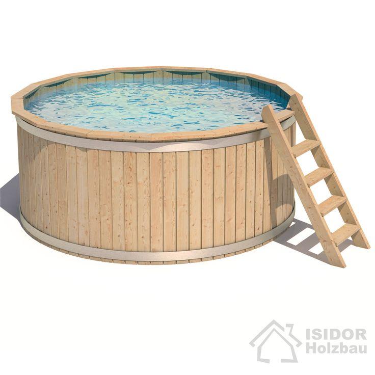Lovely ISIDOR Casper Massivholz Pool m Massivholz Holzpool