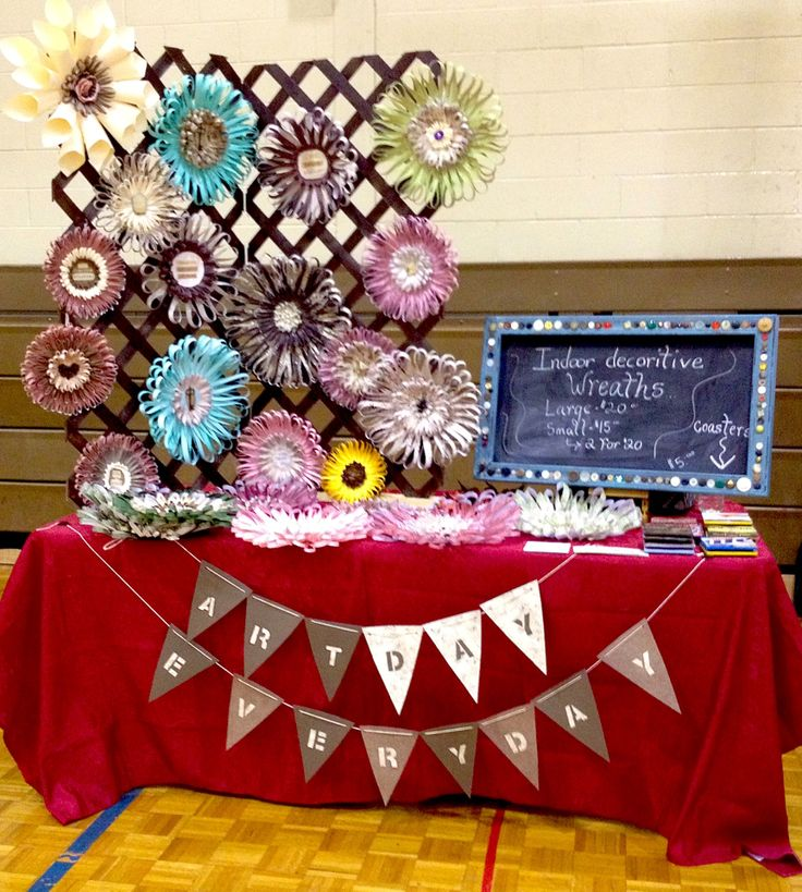 Burlap Wreath Craft Fair Displays Mason Jar Craft Fair T