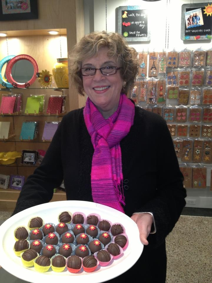 Carol at her Birthday and Grand Opening Celebration in Ann Arbor on March 16th.