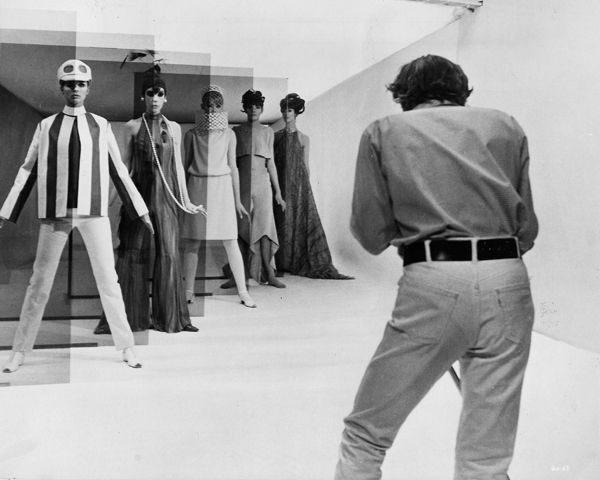 Michelangelo Antonioni on the set of his 1966 film Blow-Up, by BFI