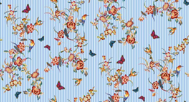 """Embroidery"", grafica di TheColorSoup    #stripes #colors #graphics #design"