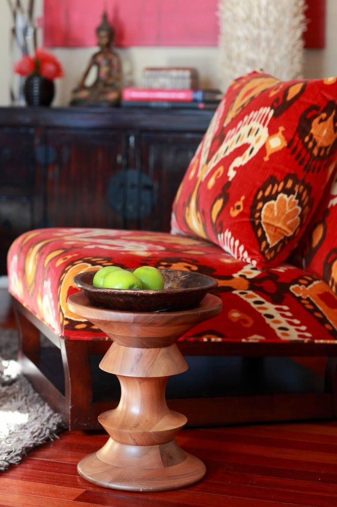 Schumacher Tashkent Ikat Velvet Fabric With F Schumacher Furniture.