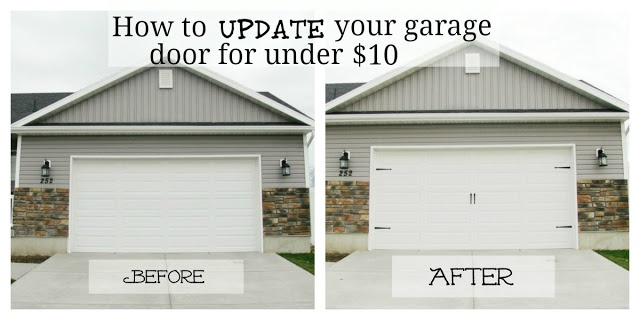 Garage Door Facelift For Under Ten Bucks (Garr Den Of Love: Before And After