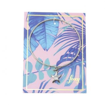 Starfish Bracelet in Silver– available in gold and silver.$24.00 Get 25% off this bracelet with coupon code 'foxypin' www.foxyoriginals.com, #bracelet, #silverbracelet, #silverjewelry, #silverbangle, #starfishcharm, #sistergift, #jewelrygift, #gift, #holidaygift, #birthdaygift, #teenagergift, #momgift, #graduationgift, #cutepackaging