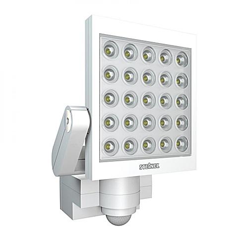 Reflektory LED z czujnikiem ruchu Steinel Xled 25  - biały Jedyny w swoim rodzaju reflektor z diodami LED o mocy 60W .Moc światła porównywalna do żarówki halogenowej 200W Czujnik z opcją watt-o-matic oraz światła stałego przez 4 godz. $607