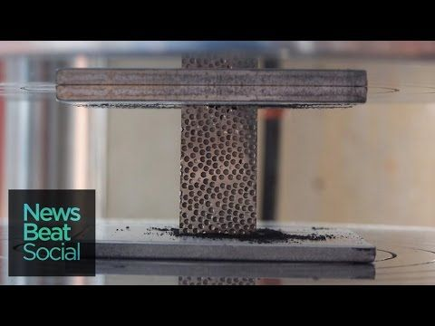 Metal Foam Obliterates Speeding Bullets - YouTube