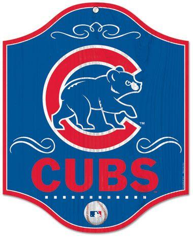 Vintage Chicago Cubs Logo | Chicago Cubs wood sign