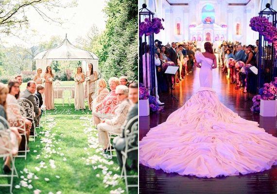 A menyasszony szemszögéből is érdemes fotózni, a ruhádat pedig hátulról is fényképeztesd le a bevonulásnál!