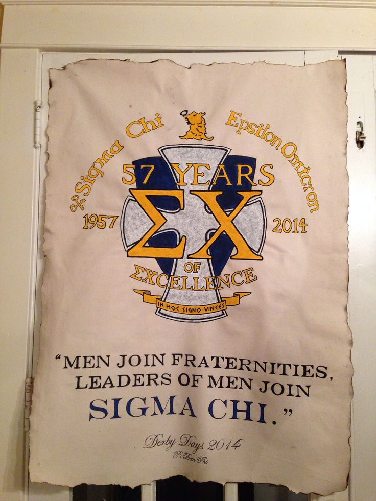 Sigma Chi fraternity Derby Days banner
