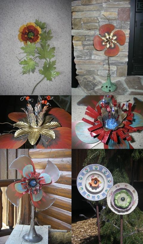 Fan blade flowers