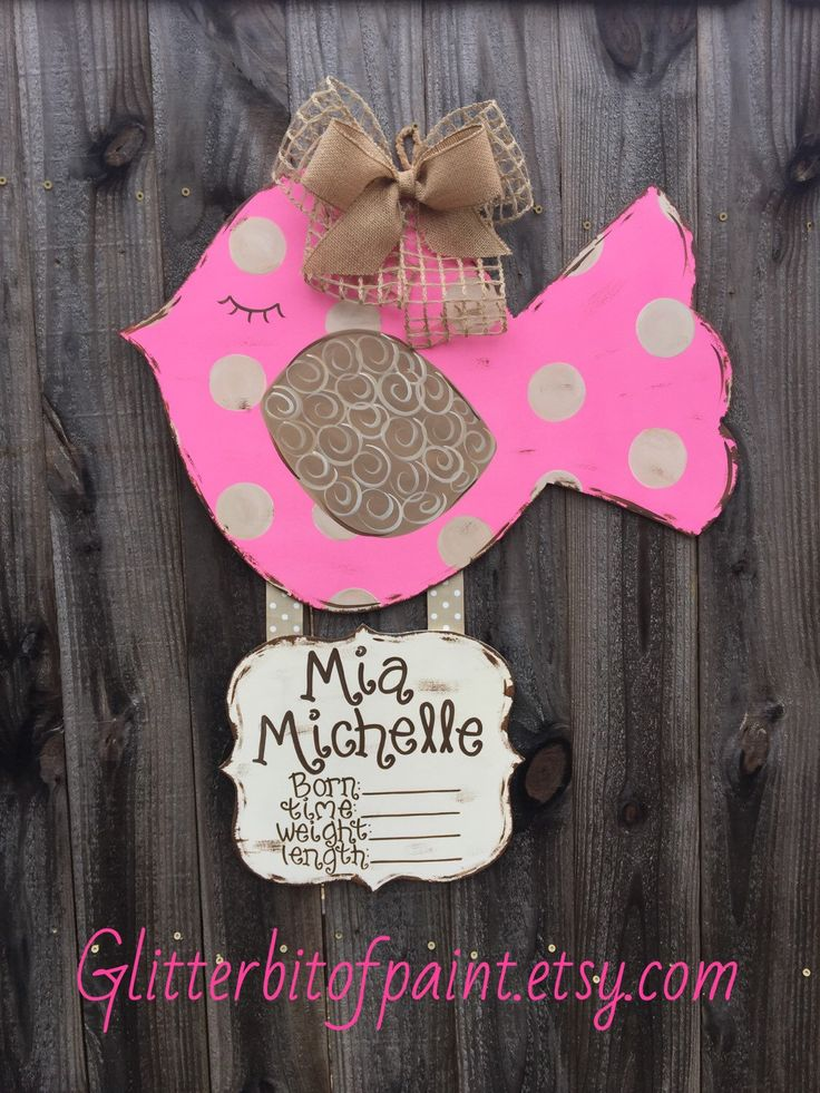 59 best BIRTH ANNOUNCEMENT DOOR HANGERS images – Hospital Birth Announcements