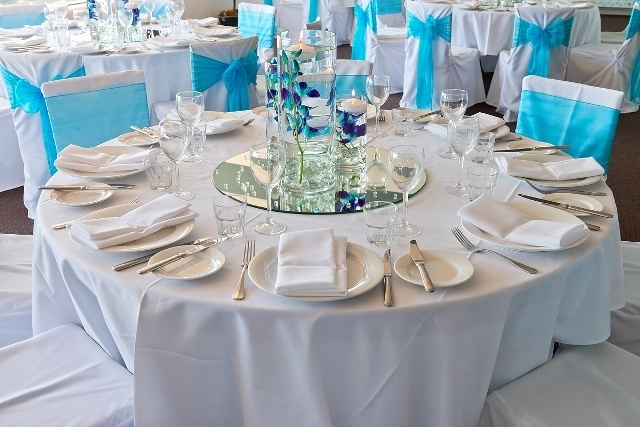 #wedding #centrepiece #sashes #weddingreception