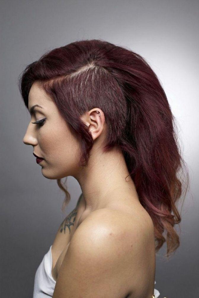 Frisuren Frauen Sidecut - Frisurentrends | Undercut lange
