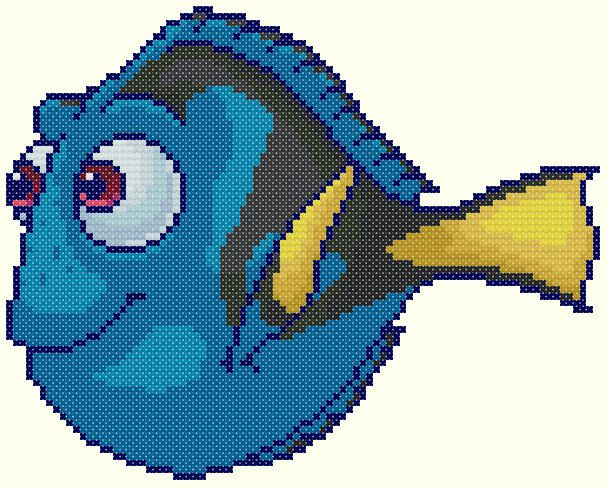 Dory - Finding Nemo Pattern by KeenahsCrossStitch
