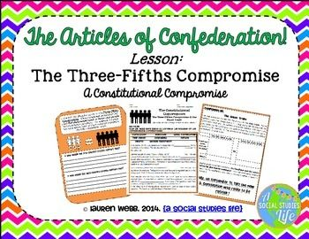 Articles of Confederation Three-Fifths Compromise • Students will research and analyze the Constitutional Compromises: Three-fifths Compromise & the Slave Trade