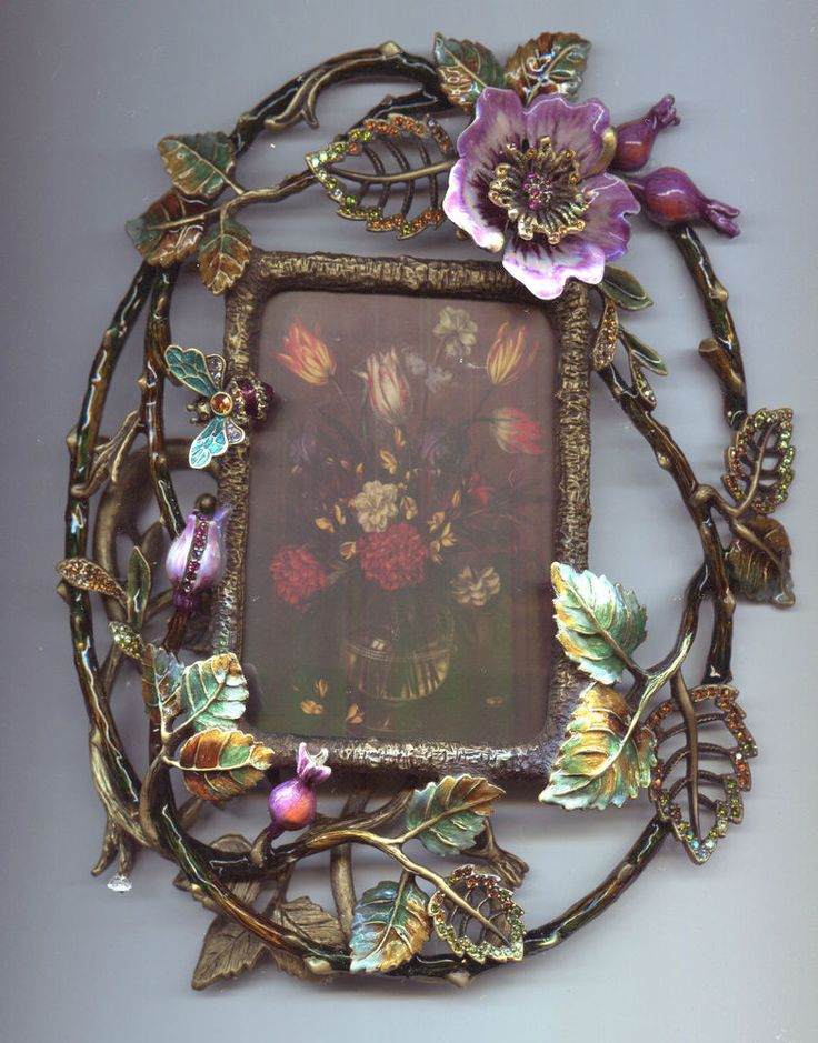 Jay Strongwater Meadows Floral Frame Pictureframes Jay