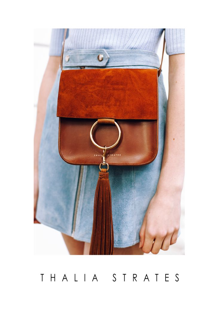 Thalia Strates Nikki Bag in cognac and gold