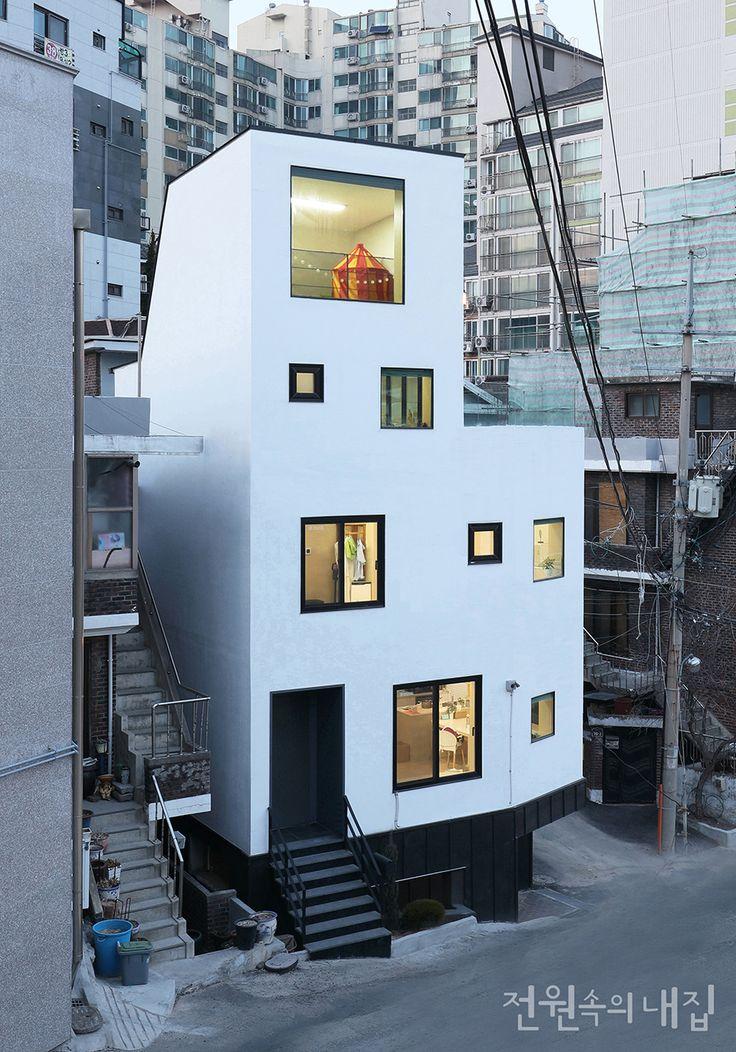 채광 좋은 4층 협소주택| Daum라이프