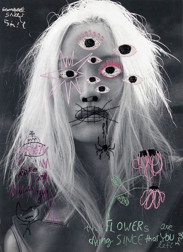 Jose Romussi Embroiders His Vision Of Beauty On Top Of Fashion Photographs
