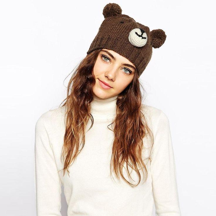 Cute Bear Wooly Hat