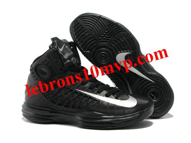Buy Nike 2013 Womens Lunar Hyperdunk Black Metallic Silver Basketball Shoes  For Wholesale