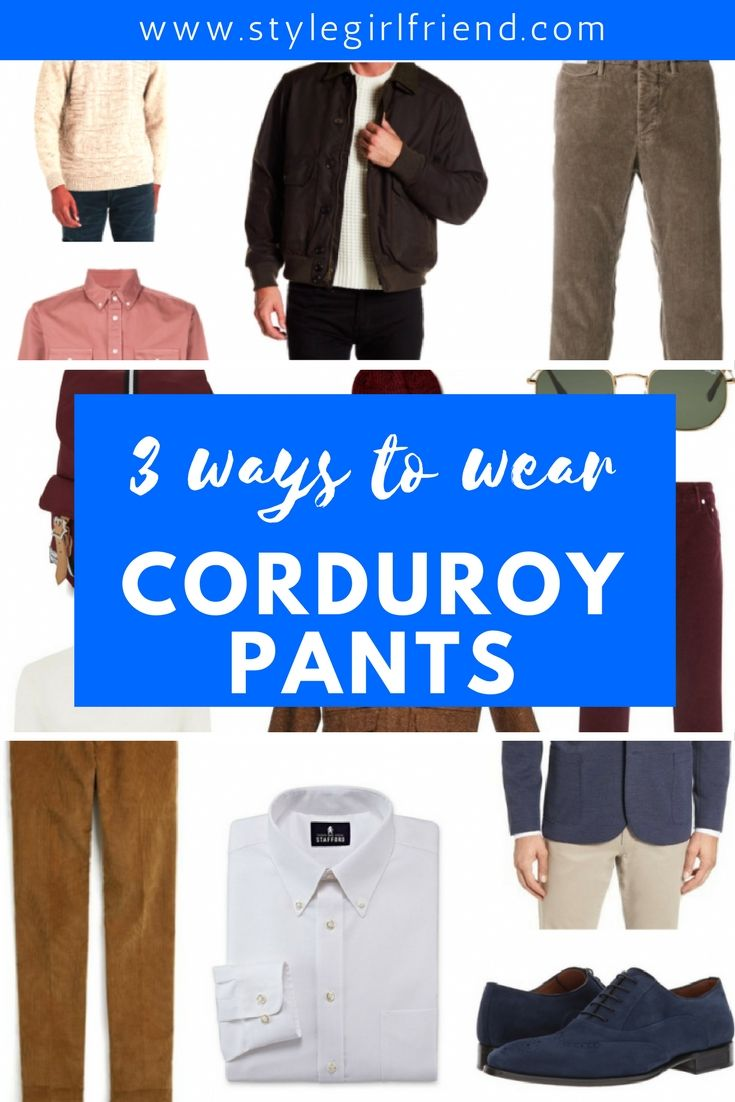 how to wear corduroy pants