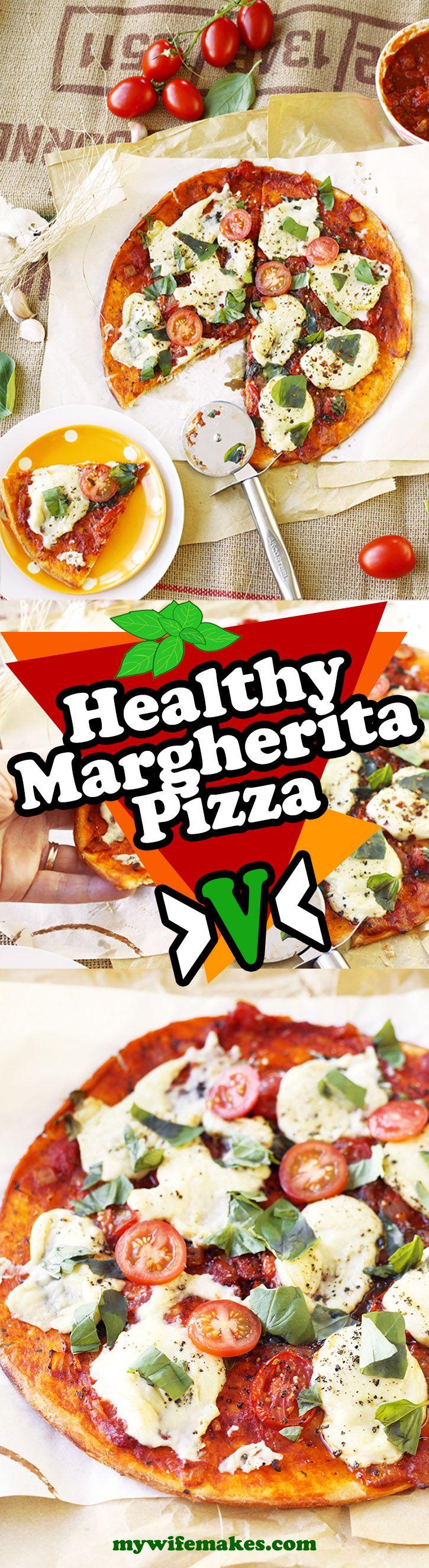 Vegan Pizza Margherita - simple, delicious, hearty, satisfying.... Great vegetarian board http://www.pinterest.com/limened/vegetarian-recipe/