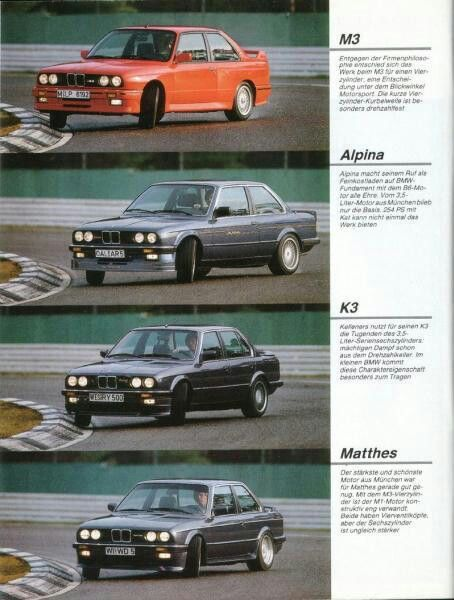 BMW E30s - M3, Alpina & tuners