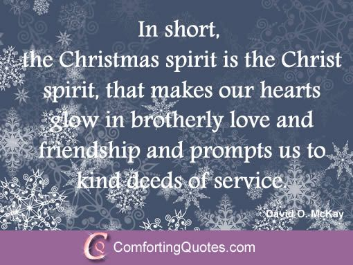 Quote of David Mckay on Christmas!