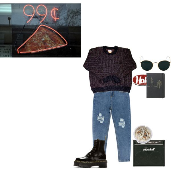 99 by violetteandgrunge on Polyvore featuring mode, Chicnova Fashion, Dr. Martens, Ray-Ban, Ash and grunge