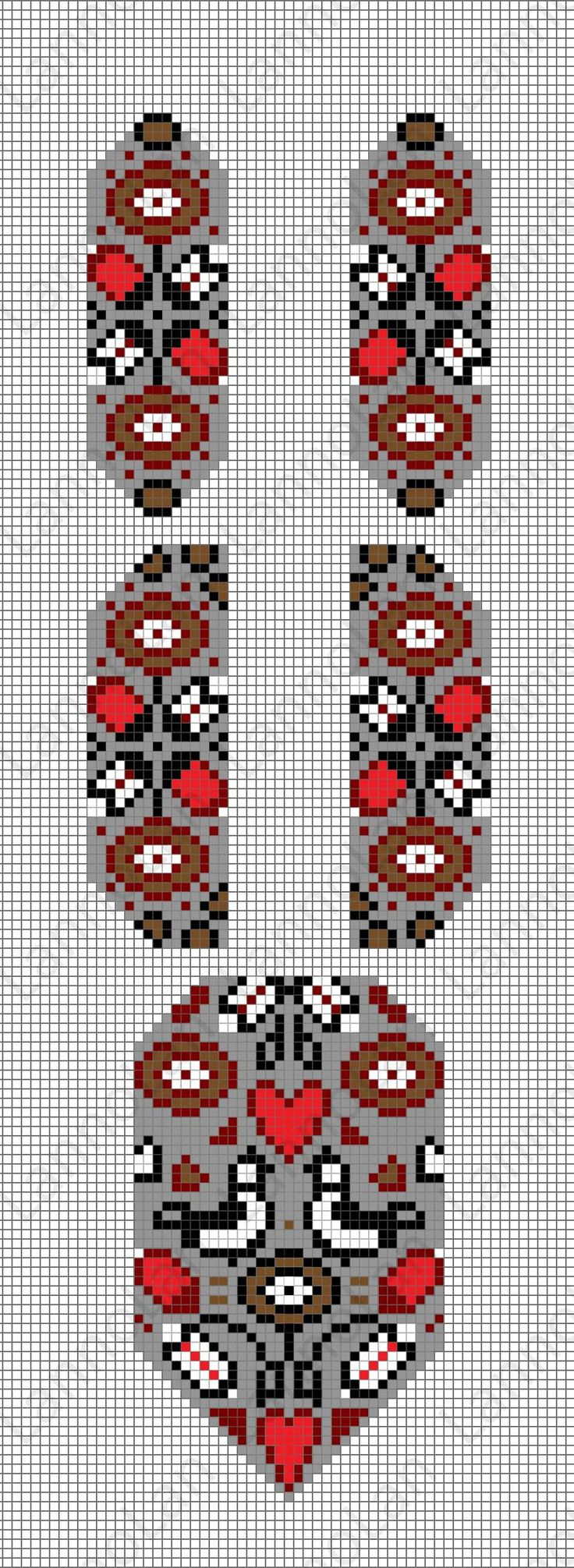 Ukrainian gerdan pattern - loom pattern - necklace ... inspired by: http://skrynya.ua/neck/neck-ethno/p676228