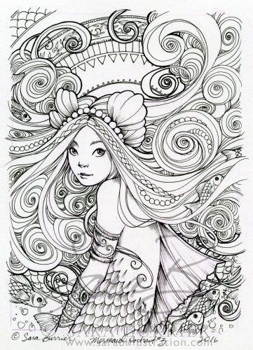 509 Best Mermaid Coloring Sheets Images On Pinterest