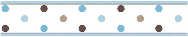 "Mod Dots 15' x 6"" Polka Dot Border Wallpaper"