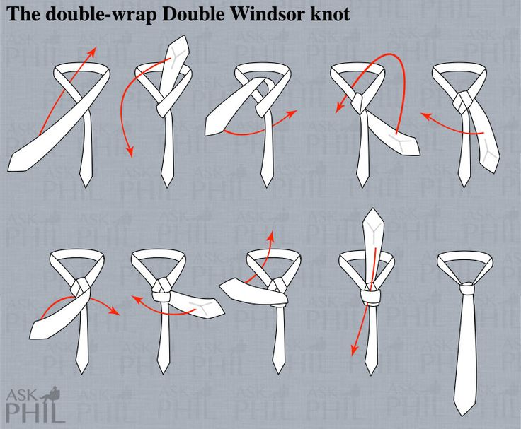 how to tie a double windsor tie - Google Search