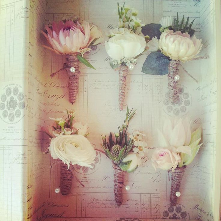 Rustic Style with Twine Buttonholes