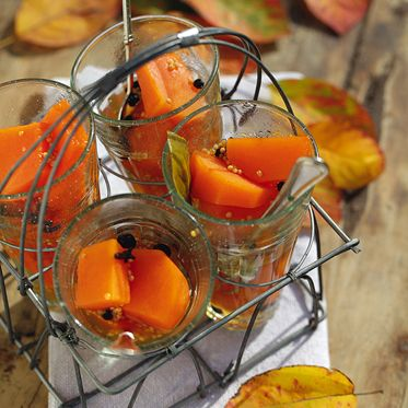 Süßsauer eingelegter Kürbis Rezept | Küchengötter