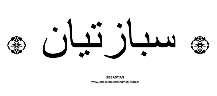 Your Name in Arabic: Sebastian name in Arabic