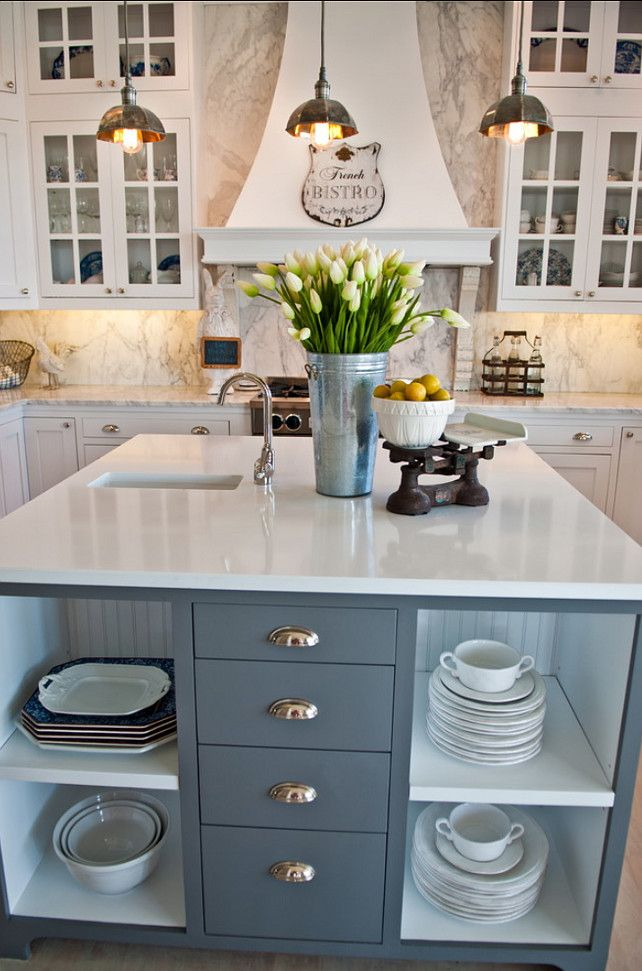 "Gray Kitchen Island Paint Color: ""Benjamin Moore Graphite #Kitchen #Island #PaintColor"