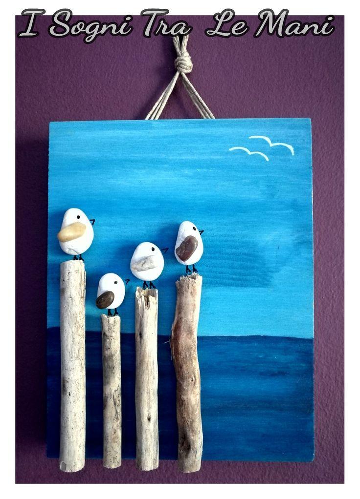 DYI -rocks & wood- -handmade-