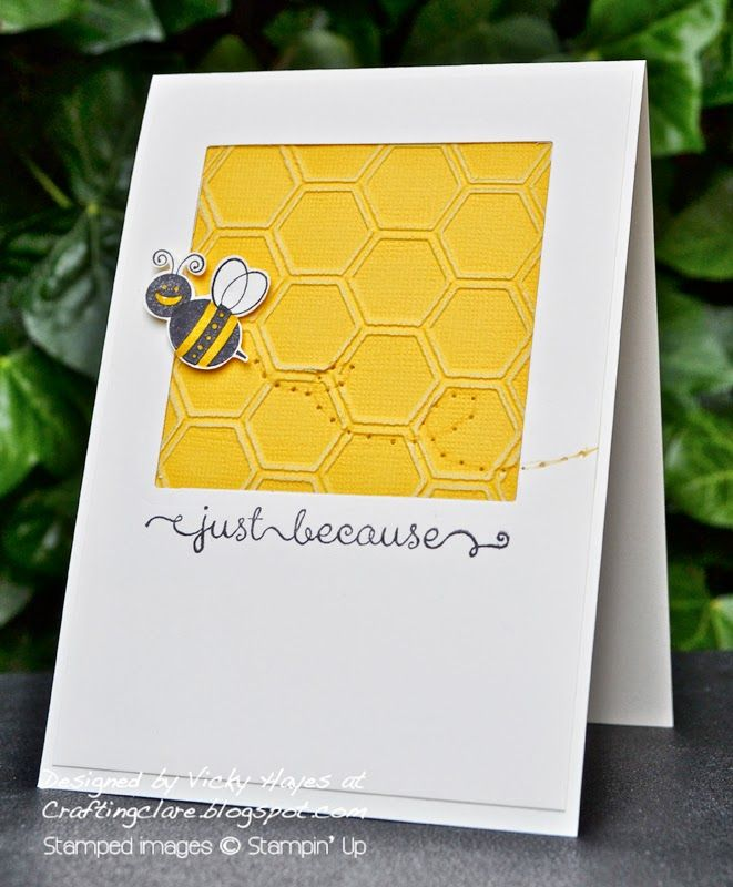 Card Bugs Insects Bee Bees Honey Comb Square Honeycomb