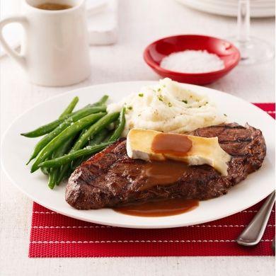 Steak au vin rouge et brie - Recettes - Cuisine et nutrition - Pratico Pratique
