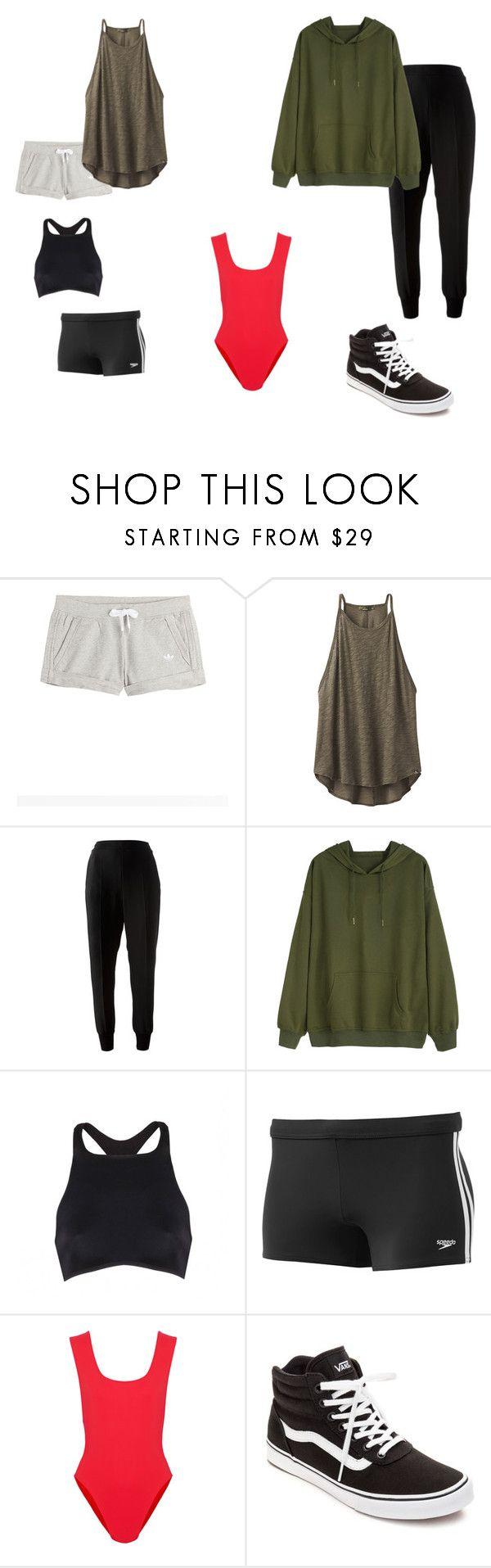 """Survivor: The Type Of Clothes To Take With You(WOMAN)"" by sr-for-the-world on Polyvore featuring adidas Originals, prAna, STELLA McCARTNEY, UrchinDeep, Speedo, Araks, Vans, Greece, survivor and realityTV"