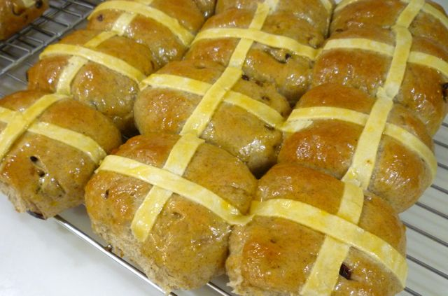 Home made hot cross buns - and Easter treat.