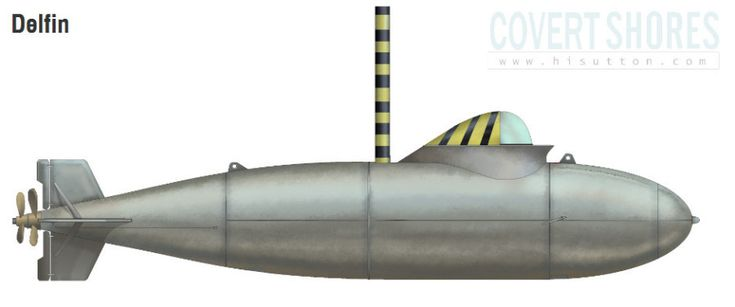WW2 Midget Submarine Delphin I and II plans ! 1945 !